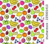 fresh fruit seamless pattern... | Shutterstock .eps vector #235001413