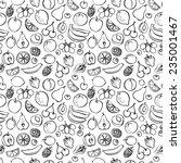 fresh fruit seamless pattern... | Shutterstock .eps vector #235001467