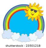 sun in sunglases in rainbow... | Shutterstock .eps vector #23501218