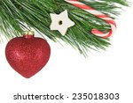 Christmas Fir Tree  Red Bauble...