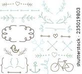 vintage hipster arrows set | Shutterstock .eps vector #235019803