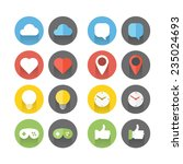 different flat icons set.... | Shutterstock .eps vector #235024693