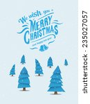 digitally generated christmas... | Shutterstock .eps vector #235027057