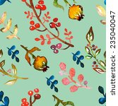 seamless pattern with floral... | Shutterstock .eps vector #235040047