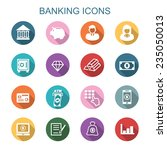 banking long shadow icons  flat ... | Shutterstock .eps vector #235050013