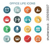 office life long shadow icons ... | Shutterstock .eps vector #235050037