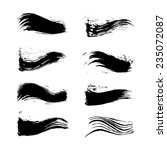 vector set of grunge brush... | Shutterstock .eps vector #235072087