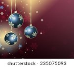 best christmas balls background  | Shutterstock . vector #235075093
