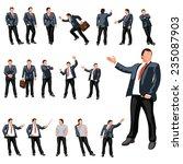 businessmans  set with... | Shutterstock .eps vector #235087903