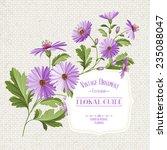 wildflower print over linen...   Shutterstock .eps vector #235088047