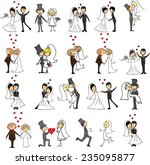 set of wedding doodle pictures  ... | Shutterstock .eps vector #235095877