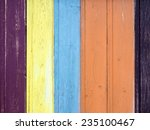 wooden fence background with... | Shutterstock . vector #235100467
