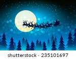 christmas background with santa ... | Shutterstock . vector #235101697