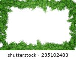 christmas tree frame isolated... | Shutterstock . vector #235102483