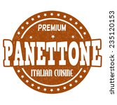 panettone grunge rubber stamp... | Shutterstock .eps vector #235120153