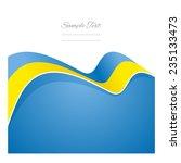 ukraine abstract flag ribbon... | Shutterstock .eps vector #235133473