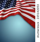 american flag on blue background | Shutterstock . vector #235142053