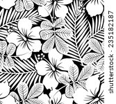 black and white tropical... | Shutterstock . vector #235182187