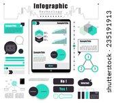 technology infographics element ... | Shutterstock .eps vector #235191913