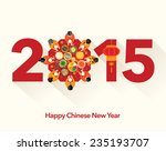 chinese new year 2015 reunion... | Shutterstock .eps vector #235193707