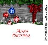 merry christmas against...   Shutterstock . vector #235203823