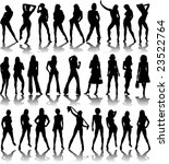 a collection of sexy ladies... | Shutterstock . vector #23522764