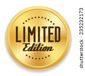 gold limited edition badge on... | Shutterstock .eps vector #235232173