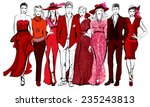 colorful fashion women and men...