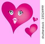 pink valentine hearts | Shutterstock .eps vector #23524999