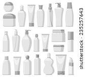 set of cosmetic bottles ...   Shutterstock .eps vector #235257643