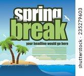spring break palm trees... | Shutterstock .eps vector #235279603