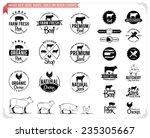 vintage meat logos  badges ... | Shutterstock .eps vector #235305667