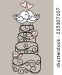 hand drawn contemporary wedding ... | Shutterstock .eps vector #235307107