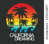 california typography  t shirt... | Shutterstock .eps vector #235312897
