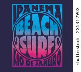 surf typography  t shirt... | Shutterstock .eps vector #235312903