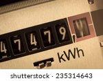 an electricity meter measures... | Shutterstock . vector #235314643
