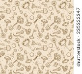 Seamless Keys Pattern. Various...