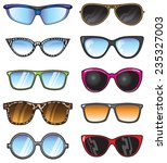 a set of vector shades in many... | Shutterstock .eps vector #235327003