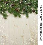 christmas fir tree with...   Shutterstock . vector #235335787