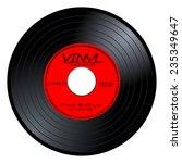 new gramophone vinyl lp record... | Shutterstock .eps vector #235349647