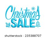 christmas sale design template... | Shutterstock . vector #235388707