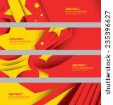 Abstract Chinese Flag  China...