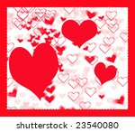 a computer generated hearts... | Shutterstock . vector #23540080