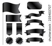 black ribbons set isolated on...   Shutterstock .eps vector #235403707