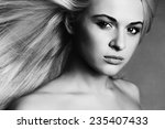 beautiful young woman.blond... | Shutterstock . vector #235407433