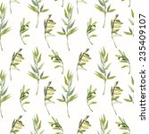 herbs of provence seamless... | Shutterstock . vector #235409107