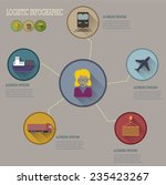 logistic infographic flat icons ... | Shutterstock .eps vector #235423267