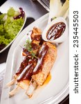 delicious grilled pork ribs... | Shutterstock . vector #235445503