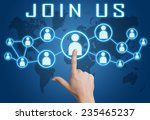 join us concept with hand... | Shutterstock . vector #235465237
