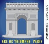 arc de triomphe   detailed... | Shutterstock .eps vector #235476877